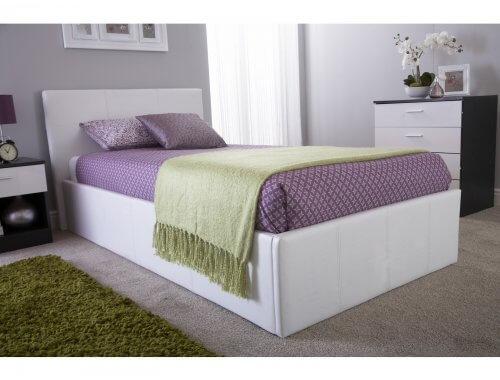 Caspian® Side Lift Ottoman Storage Bed  - Black, Brown, White - 3ft, 4ft, 4ft6, 5ft